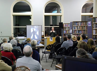 Timothy Taylor at the Fernie Heritage Library
