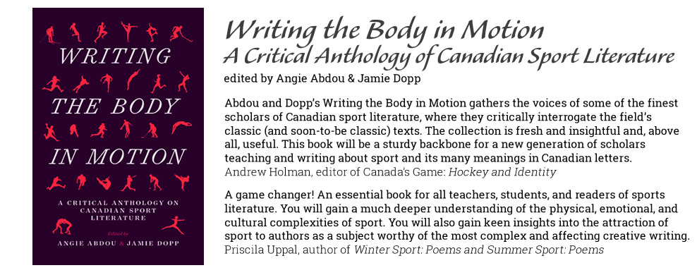 Writing the Body in Motion - edited by Angie Abdou & Jamie Dopp